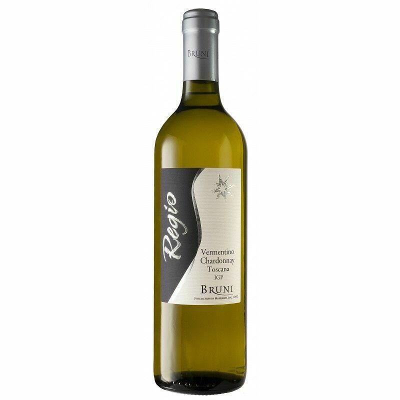 "Image of   Bruni ""Regio"" Vermentino/chardonnay Toscana 0,7 liter5 Ltr"