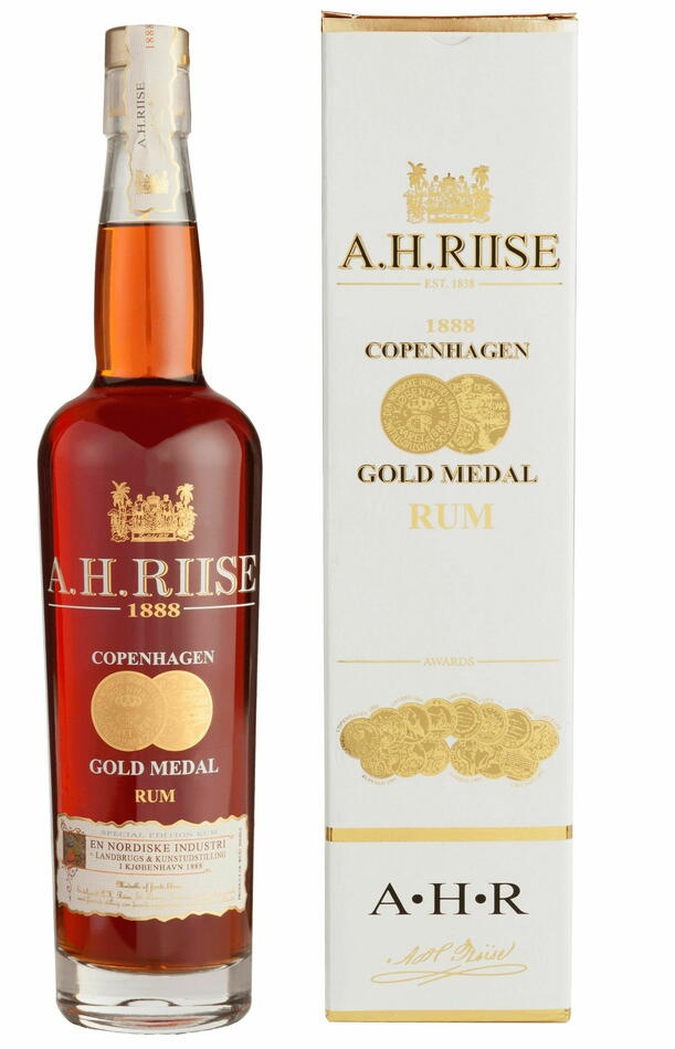 Image of   A.H. Riise 1888 Copenhagen Gold Medal Rum Fl 70