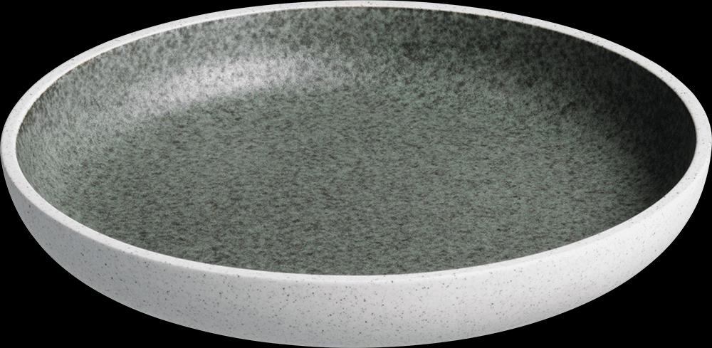 Image of   Salt tallerken uden fane grøn ø20 cm