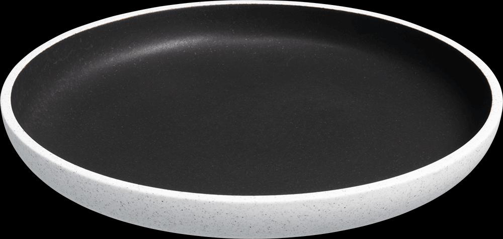 Image of   Salt tallerken uden fane mørkegrå ø23 cm