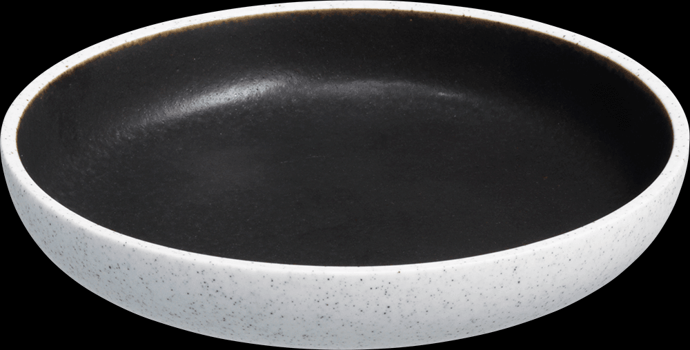 Image of   Salt tallerken uden fane mørkegrå ø17 cm
