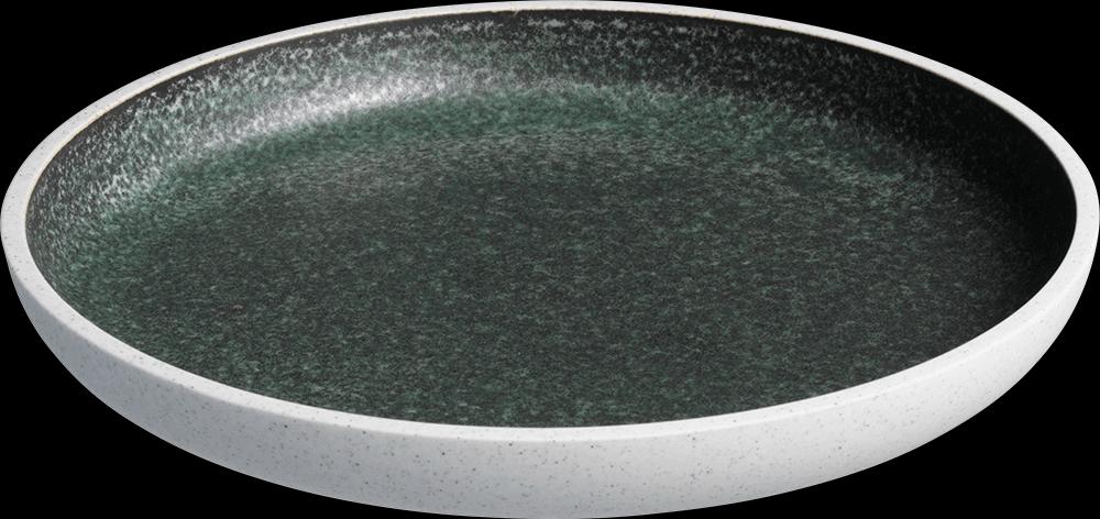 Image of   Salt tallerken uden fane Grøn ø23 cm