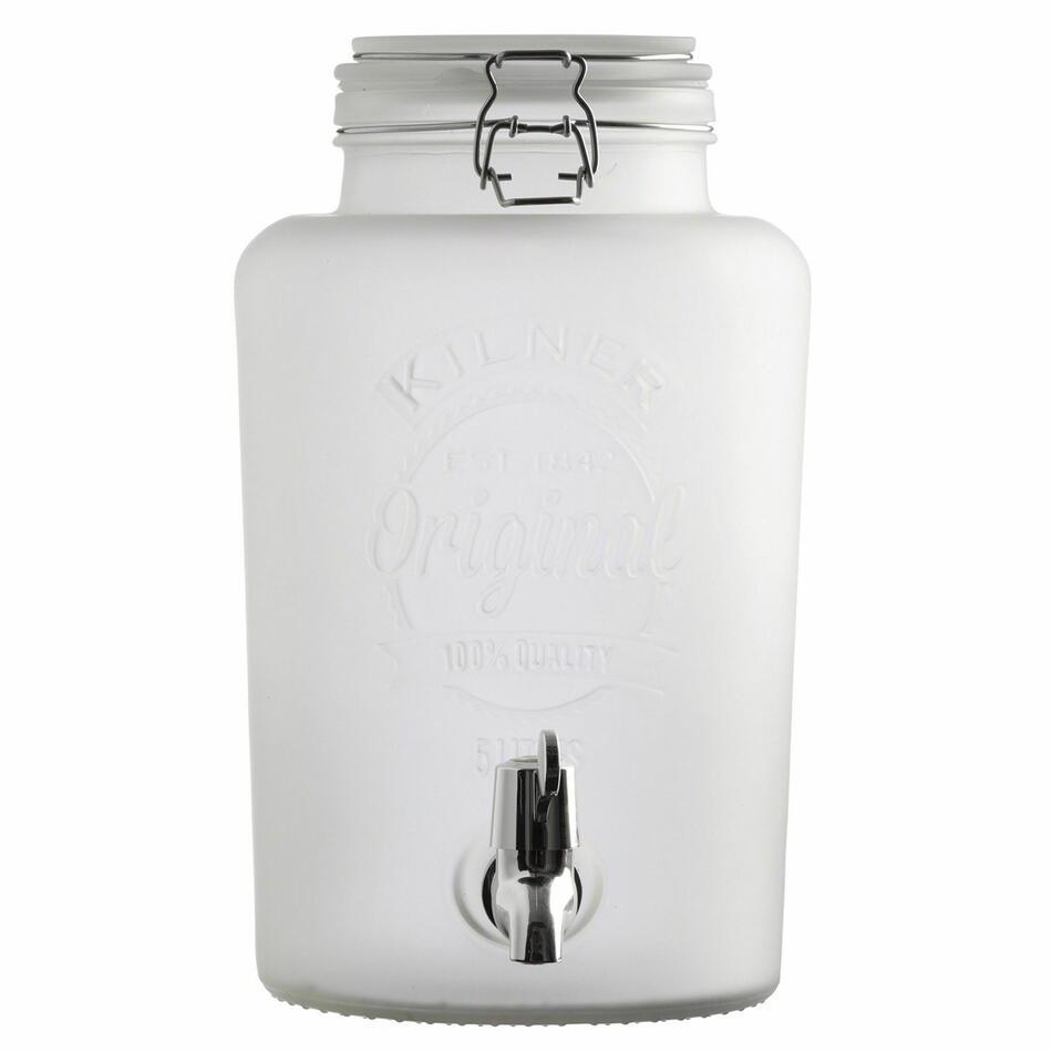 Image of   Kilner Frosted Drinks Dispenser Hvid 5ltr