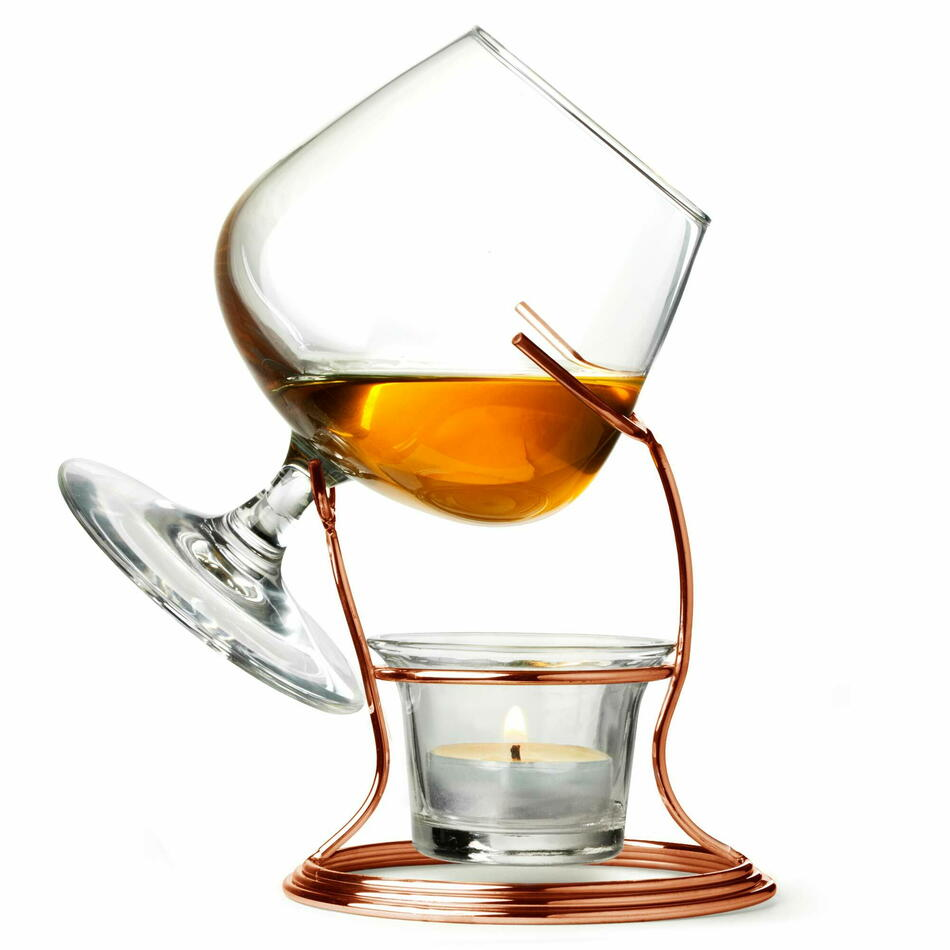 Kobber Cognac & Brandy Varmere Med Glas