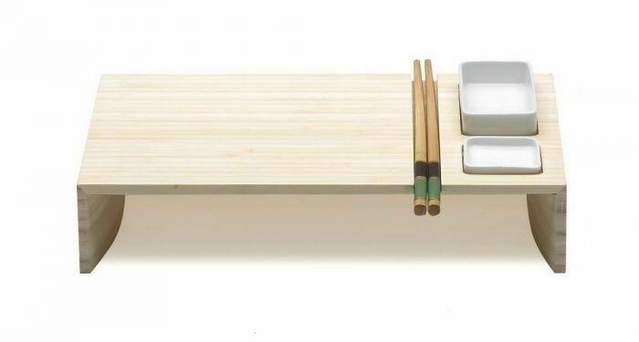 Image of   Kobe Sushi Set M/ 2 Keramik Skåle Og Spisepinde