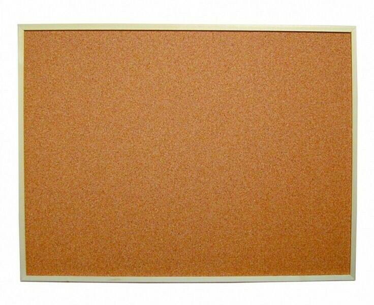Image of   Indrammet Kork Opslagstavle - 600mm x 800 Mm