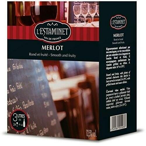 Image of   L'estaminet De France, Merlot (Bib) Krt 500
