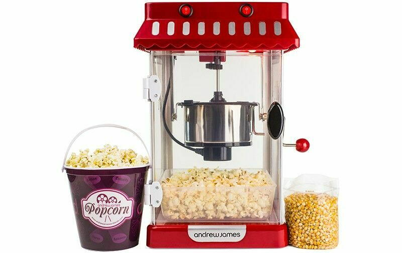 Popcorn Maskine Retro - Andrew James