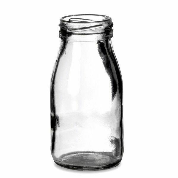 "Mini ""Mælkeflaske"" Drikkeglas 4 Stk."