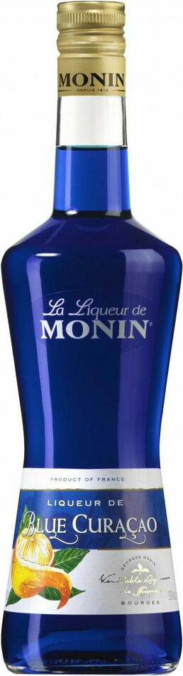 Image of   Monin Liqueur Curacao Blue Fl 70
