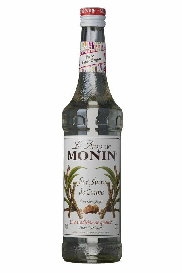 Monin Syrup Cane Sugar / Rørsukker Fl 70