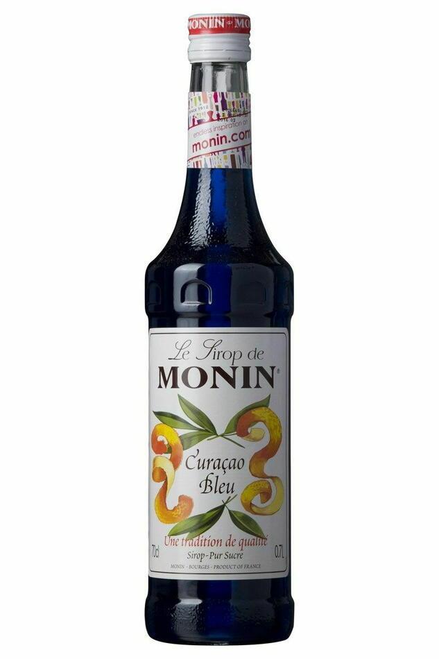 Monin Syrup Curacao Blue / Curacao Blå Fl 70