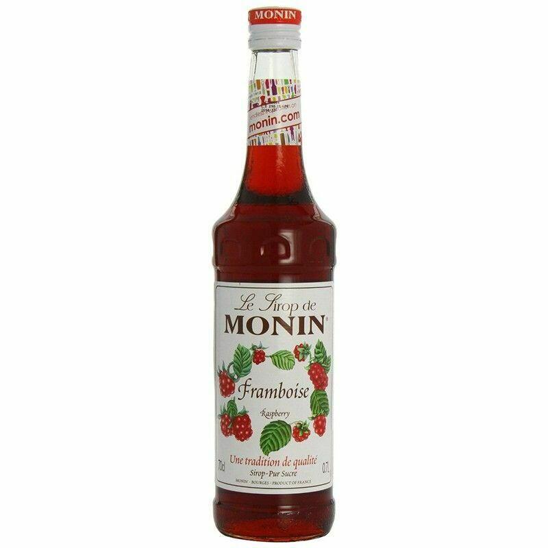 Monin Syrup Raspberry / Hindbær Fl 70
