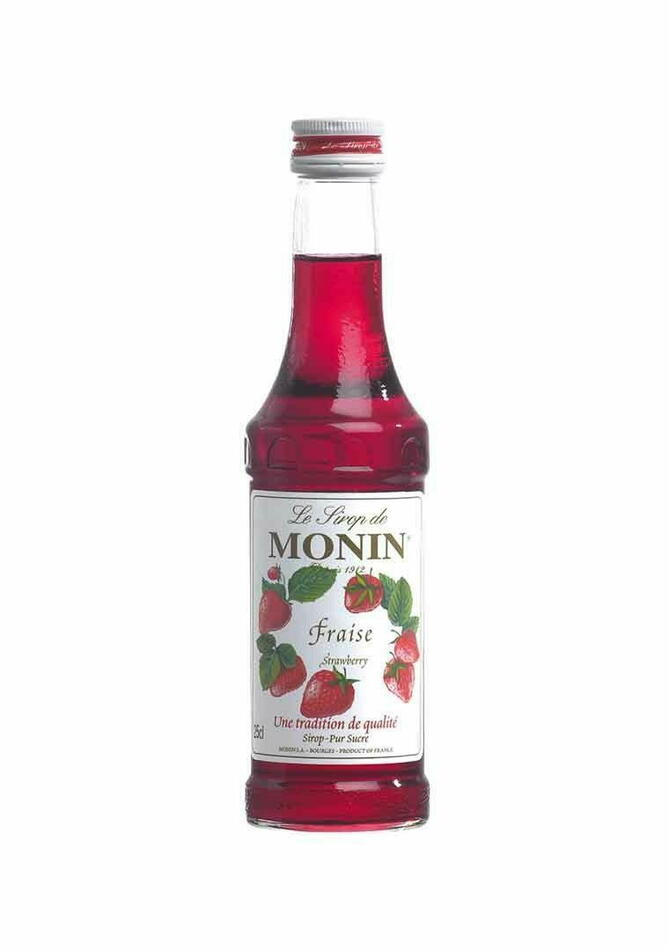 Monin Syrup Strawberry / Jordbær Fl 25