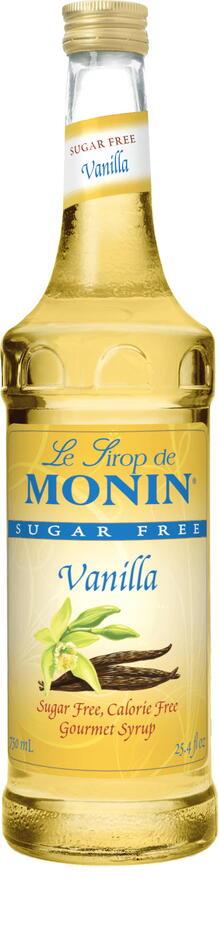 Monin Syrup Vanilla / Vanille, Sukkerfri Fl 70