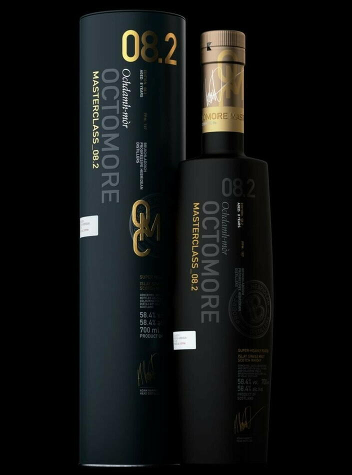 Image of   Bruichladdich Octomore 8.2 Islay Single Malt Fl 70