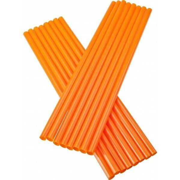 Image of   Sugerør 8x255mm (*Uden Knæk) - Orange - 250 Stk