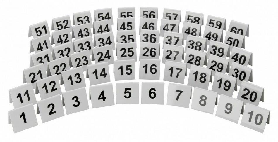 Image of   Plastiske Individuelle Tabelnumre