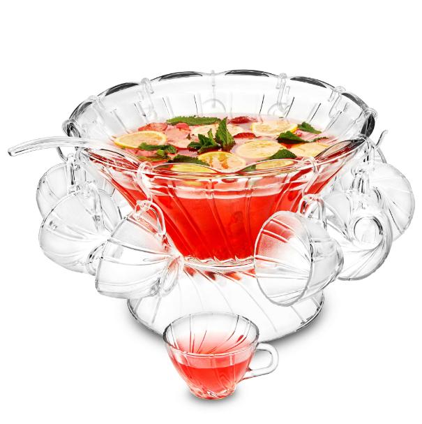 Billede af DRINKSTUFF, Glas Punch Bowl Set