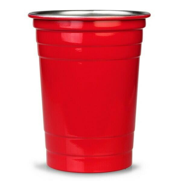 Red Cup i Rustfri Stål 455ml. - 4 Stk.