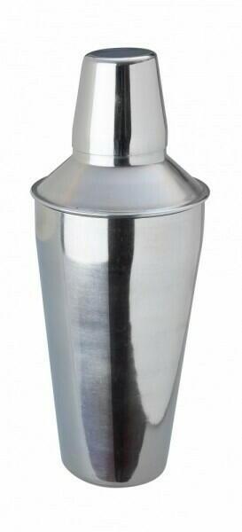 Image of   Cocktail Shaker Rustfrit Stål 3 Delt