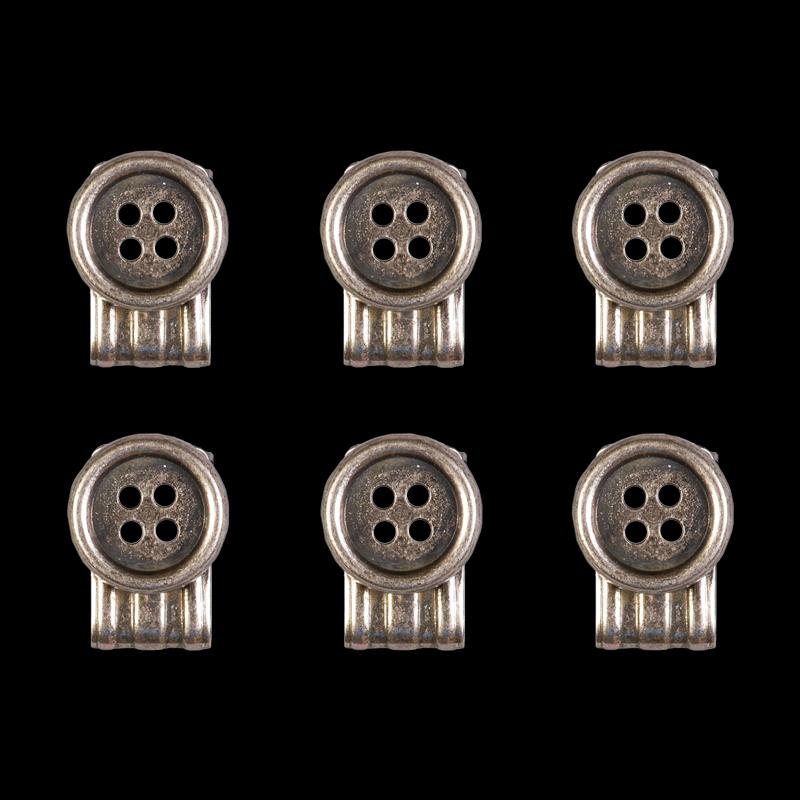 Billede af Sharp & Dapper Clip på knapper (sæt på 6) Urban bar
