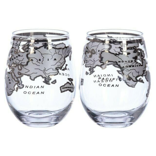 Image of   Vintage Globe Glas Silver Mixology