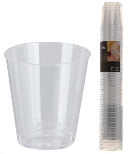 Snapsglas 3 Cl - Klar Plast - 50 Stk