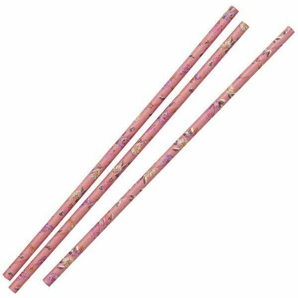 Image of   Pink Sugrør 20 Cm. 30 Stk