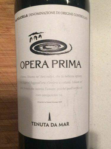 """Tenuta Da Mar, """"Opera Prima"""" Valpolicella 2014 Fl 75"""