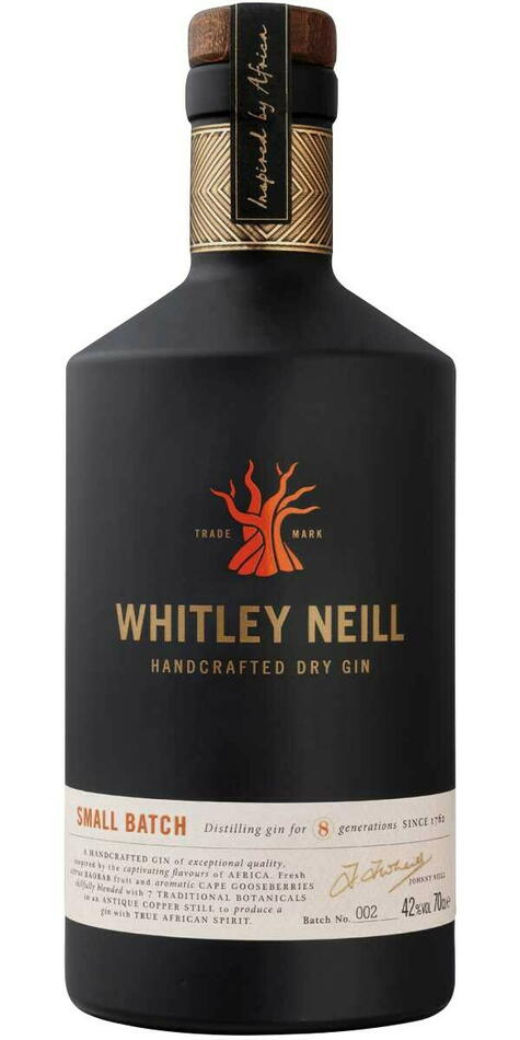 Whitley Neill Handcrafted Dry Gin Fl 70