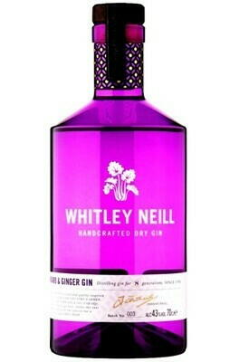 Whitley Neill Rhubarb & Ginger Gin Fl 70