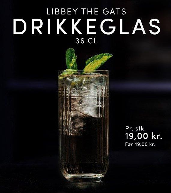 LIBBEY THE GATS DRIKKEGLAS, 36 CL